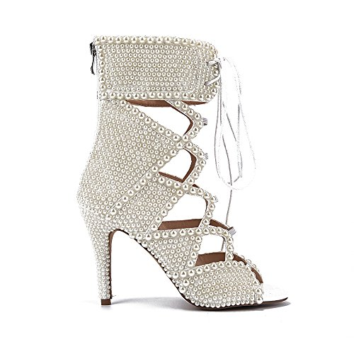 Shoemaker's heart con tacco alto stivali corti europee e americane Pearl moda bocca pesce cava freddo Zipper stivali tacco e sexy tacco Stivaletti Thirty-four