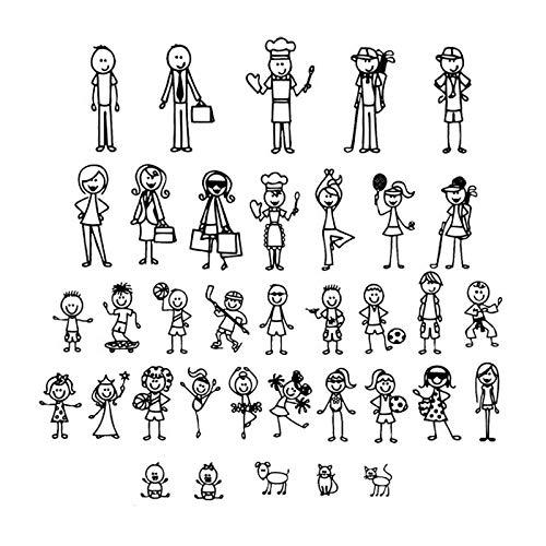 Pegatinas personalizadas Figura familia Pegatinas