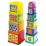 Playgo 2382 - Baby Baubecher Würfel Pyramide mit Zahlen lernen