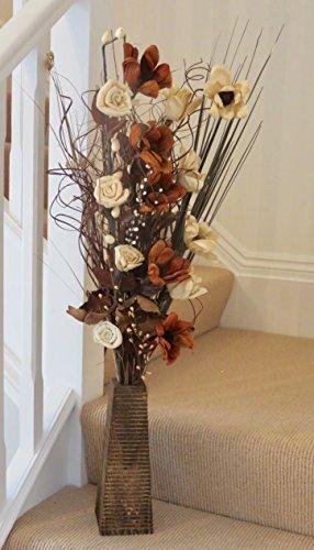 Único secas y ramos de flores artificiales de 85cm de alto con...