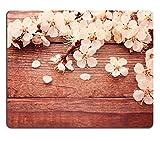 luxlady Gaming tapis de souris d'image: 27255159mariage Bouquet de fleurs blanches sur surface en bois Summer Wedding Day Unusual Étui pour fleuriste Bouquet de roses délicates l'espace texte