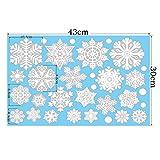Aomon 110 Fensterdeko Schneeflocken Weihnachten Fensterbilder Schneeflocken mit 45 weißen Punkten-Statisch Haftende Aufkleber Test