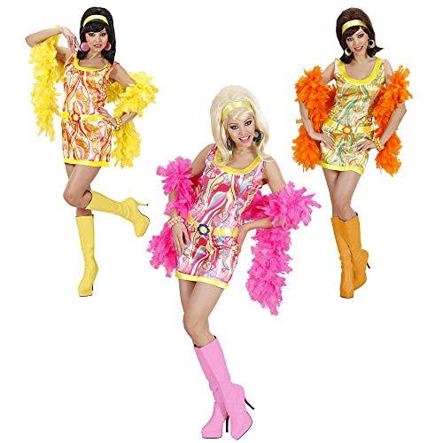 Widmann 74001 Erwachsenenkostüm 70er Mädchen, (Mod Mädchen Für Erwachsene Kostüm)