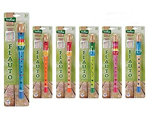 Globo Toys 37114 - Flauta de madera, 32.5 x 3 x 3 cm, 1 unidad colores surtidos