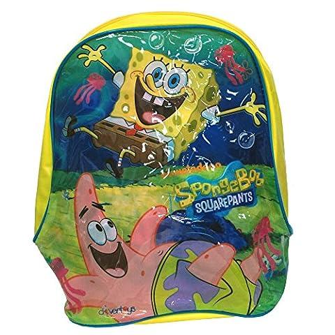 Children's TV Show Character Licensed Transparent Clear Swim Beach Travel Sports Bag Range Girls Boys & Unisex Designs (Spongebob