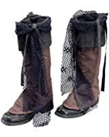 Brown Distressed Pirate Boot Tops Jack Sparrow Fancy Dress