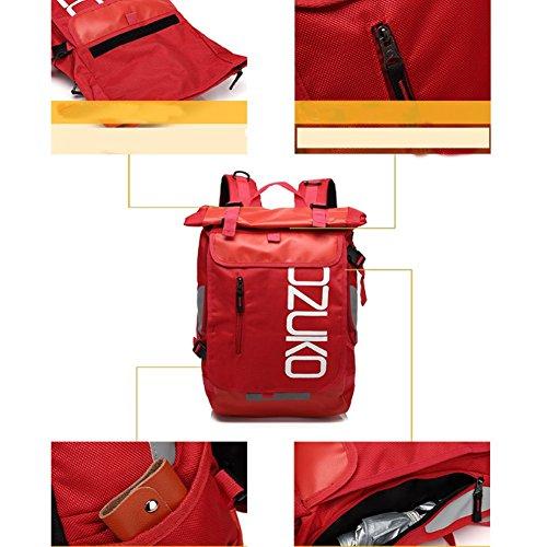YAAGLE Rucksack herren groß Schultasche multifunctional Laptoptasche für 15 Zoll wasserdicht damenrucksack rot
