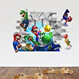 Super Mario Bedroom Background Removable 3D Wall Sticker Decal Home Decor