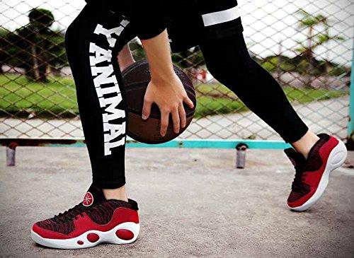 Scarpe Athletic Respirabili Uomo Outdoor 2017 Autunno Nuova Cuscineria Sneakers da Basket di Lega di gomma leggera Red