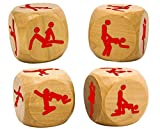 Rude Gifts - Wooden Kamasutra Dice - Perfect Naughty Christmas, Secret, Sexy Santa Gift For Men Man Boyfriend Husband & Women Woman Girlfriend Wife - One Supplied