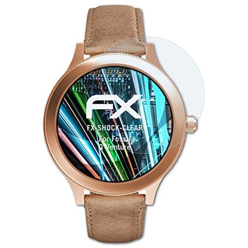 atFoliX Schutzfolie kompatibel mit Fossil Q Venture Panzerfolie, ultraklare & stoßdämpfende FX Folie (3X)