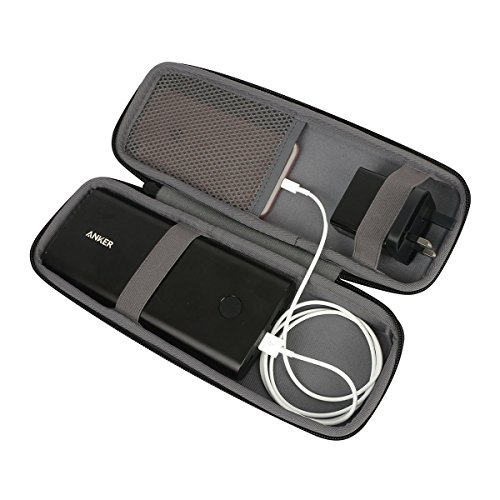 Hart Reise Schutz Hülle Etui Tasche für Anker PowerCore+ 26800mAh Premium Aluminium Powerbank Externer Akku von co2CREA (black-longer)