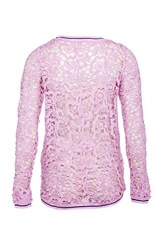 Frogbox Damen Shirt Langarmshirt FLOCK PRINT Rosa