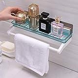 MEIHZIJIA Bagno Vanity Bagno Mensola Cucina Free Forforated Wall Rack Rack Aspirazione WC A Parete Rack di Stoccaggio Blu Fresco