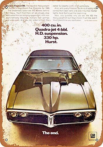 1968 Pontiac Firebird 400 2 Wandkunst Garage Club Bar Dekoration