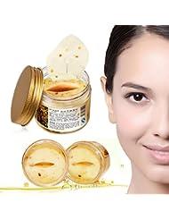 Goldene Kollagen-Augenmasken, Duftblüten, Bioaqua, feuchtigkeitsspendend, Anti-Falten-Behandlung, gegen Augenringe,80Stück