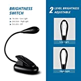 Book Light, TOPELEK 4 LED USB Rechargeable and Eye-care Reading Light, Flexible Clip Reading Lamp in Bed and Portable Travel Book Light, Music Stand Night Light