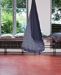 Grafinteriors Hängesessel Hängehöhle RelaxMe für Kinder, Markenware von GI Design (Blau)