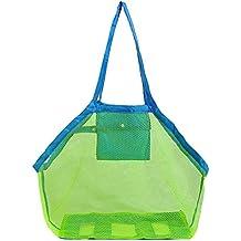 1377218f3 welim bolsa de malla bolsa de playa bolsa de malla bolsa de transporte de  malla portátil