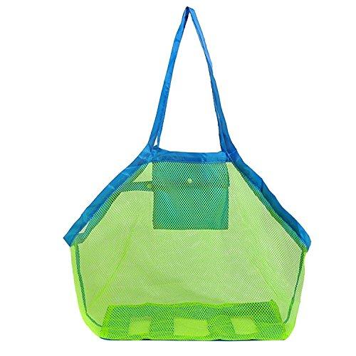 Wasserdicht Strand-taschen (Nopea Strand Tasche Kinder Aufbewahrungsnetz Mesh Strandtasche Falten Aufbewahrung Netz Tasche Wasserdichte Strand Tasche für Sandspielzeug Strand Mode)