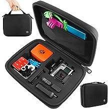 CamKix Estuche para GoPro para Hero 1/2/3/3+/4 y Accessorios – Ideal para Viajar o Almacenar – Proteccion Completa para su Camara GoPro – Paño de Micro fibra para Limpiar Incluido