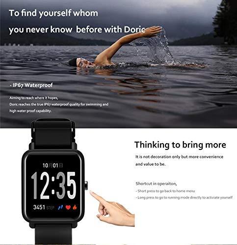 Fitness Tracker IP68 Impermeable Monitor, Letopro Rastreador de Pulsera Actividad Smartwatch Soporte Monitor de ritmo cardíaco Podómetro de presión arterial para Android IOS Mujeres Hombres 5