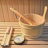 Home Deluxe - Traditionelle Sauna - Relax XL Big - Holz: Hemlocktanne - Maße: 200 x 210 x 200 cm - inkl. Harvia Saunaofen und komplettem Zubehör - 5