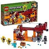 LEGO Minecraft - Le pont de Blaze, Jeu Construction et Aventure 8 Ans et Plus, Jouet pour Garçon et Fille de 372 Pièces - 21154
