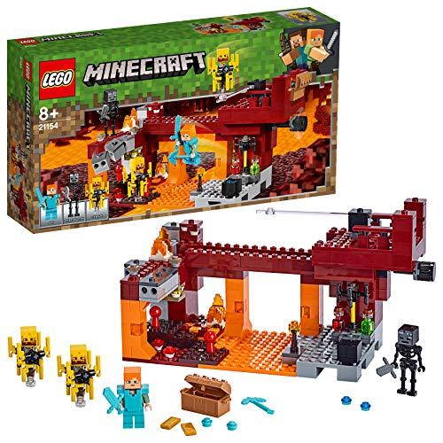 LEGO Minecraft - Le pont de Blaze, Jeu Construction et Aventure 8 Ans...