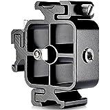 Neewer Aleación de aluminio triple tres Soporte universal de montaje en zapata fría para Canon Nikon y otras cámaras DSLR o accesorio para videocámara, como luz de vídeo LED, micrófono, monitor, flash