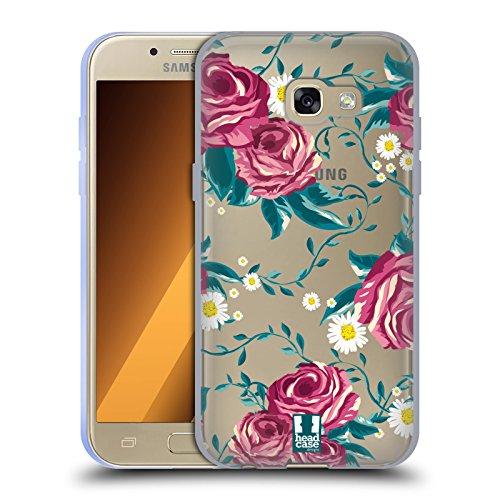 Head Case Designs Reben Flower Power Soft Gel Hülle für Samsung Galaxy A3 (2017) (Gel Case Power)