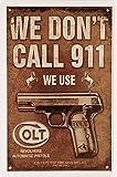 Colt Revolvers Automatic Pistols Pistole Waffe 20 x 30 cm Deko Blechschild 1421