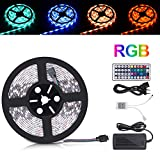 LED Strip 5m, Sunnest 5050 SMD led Stripes mit 300 LEDs Led Streifen wasserdicht led Band Farbwechsel inkl. Netzteil, Fernbedienung, Empfänger und Stromkabel