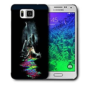 Snoogg Zombiees Eating Horse Designer Protective Back Case Cover For Samsung Galaxy Alpha