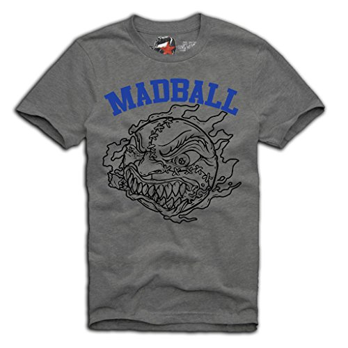E1SYNDICATE MADBALL T-SHIRT S/M/L/XL HARDCORE EMMURE BORN FROM PAIN GREY