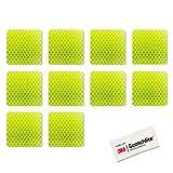 Salzmann Adesivi impermeabili catarifrangenti | Realizzati con materiale 3M Diamond Grade | Adesivi per macchine, moto, etc. | 4 pezzi
