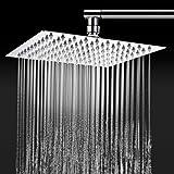TAPCET ducha/placa de ducha,alcachofa de la ducha Alcachofas fijas para ducha 304 acero inoxidable,8 pulgada Ultra-delgado inyector de ducha per cuarto de baño plaza,Cinco años de garantía