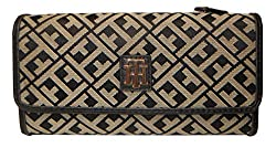 Tommy Hilfiger Womens Wallet Black / Tan