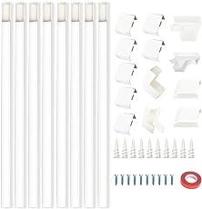BICMTE Kabelkanal selbstklebend,PVC Wand Decken Montage allzweck aller Art Kabel, Einfaches Verlegen von Kabeln und Leitungen Hochwertiges - Weiß