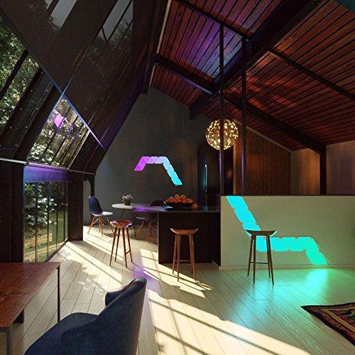 nanoleaf Aurora – 9x Modulare Smarte LED – Lichtpanels mit App Steuerung - 14