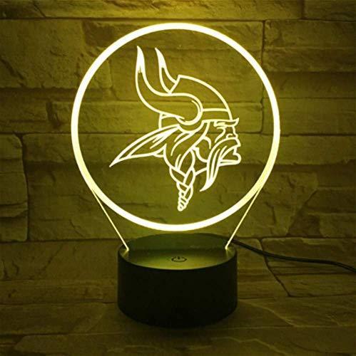 gs Nachtlampe Schlafzimmer USB Touch Kinder Kinder Geschenk Team Logo Led Nachtlicht American Football ()