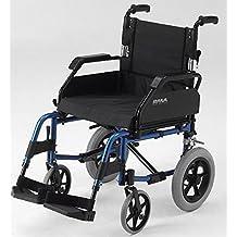 Roma Medical 1530ligero aluminio silla de ruedas de tránsito plegable
