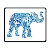 Mauspad Wald-Ozean-Krake-Elefant-Büro-Rechteck Rutschfester Gummi Mousepad kühle Spiel-Mäusematte für Laptops Computer überwacht Tabletten Tastaturen
