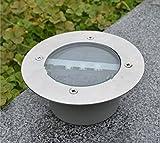 Bodenleuchte Edelstahl wetterfest solarbetrieben Eingrabstück Boden-Licht für draußen, für Sonnendeck, Garten, Lampe, Licht