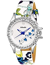 Mikado Itzel Princess Artistic Leaf Design Analog Watch For Women And Girls
