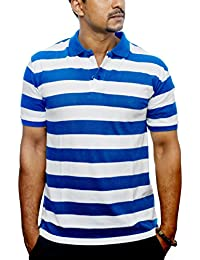 Downtown Men's Classic Polo T-shirt/ Pure Cotton T-Shirt/Pique T-Shirt/ Half Sleeve T-Shirt/Short Sleeve T-Shirts...