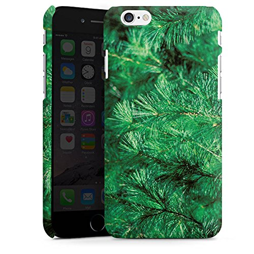 Apple iPhone X Silikon Hülle Case Schutzhülle Pinie Äste Natur Premium Case matt