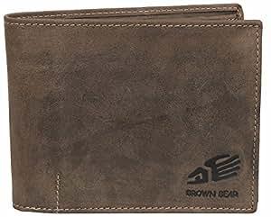 Brown Bear Geldbörse Herren Leder vintage braun 1051 br
