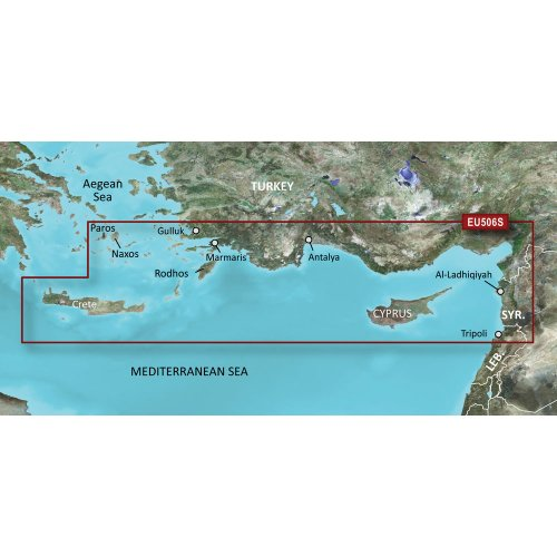Garmin VEU506S-Crete to Cyprus, 010-C0850-00 Angeln-gps-software