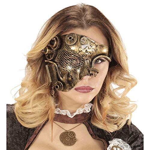 NET TOYS Edle Steampunk Maske für Erwachsene   Kupfer-Metallic   Elegantes Unisex-Kostüm-Zubehör Halbmaske Dieselpunk   Wie geschaffen für Maskenball & - Phantom Oper-zubehör Der